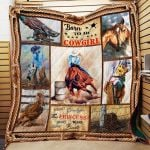 Theartsyhomes Born To Be A Cowgirl P144 3D Personalized Customized Quilt Blanket ESR48