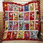 Theartsyhomes Colorful Snoopy Fabric 3D Personalized Customized Quilt Blanket ESR44