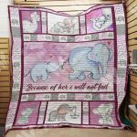 Theartsyhomes Elephant M0502 83o34 3D Personalized Customized Quilt Blanket ESR17