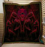 Theartsyhomes Dinosaur V4 3D Personalized Customized Quilt Blanket ESR41