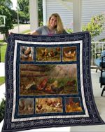 Theartsyhomes Chicken 3D Personalized Customized Quilt Blanket ESR18