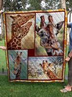 Theartsyhomes cute Giraffe 3D Personalized Customized Quilt Blanket ESR38