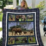 Theartsyhomes Elephant Quiani6002 3D Personalized Customized Quilt Blanket ESR4