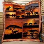 Theartsyhomes Elephant 8 3D Personalized Customized Quilt Blanket ESR7