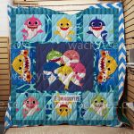 Theartsyhomes Family Shark 3D Personalized Customized Quilt Blanket ESR25
