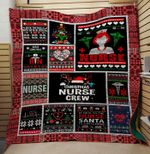 Theartsyhomes Christmas nurse crew 3D Personalized Customized Quilt Blanket ESR47