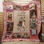 Theartsyhomes Book F1203 84o33 3D Personalized Customized Quilt Blanket ESR50