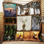 Theartsyhomes Deer P148 3D Personalized Customized Quilt Blanket ESR32