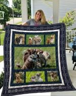 Theartsyhomes Chihuahua 4 3D Personalized Customized Quilt Blanket ESR41
