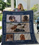 Theartsyhomes Dachshund Qui12004 3D Personalized Customized Quilt Blanket ESR17