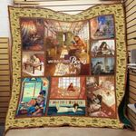 Theartsyhomes Book F1202 83o36 3D Personalized Customized Quilt Blanket ESR4
