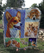Theartsyhomes Boss corgi 3D Personalized Customized Quilt Blanket ESR6