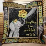 Theartsyhomes Elephant Mom M1202 82o38 3D Personalized Customized Quilt Blanket ESR23