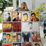 Theartsyhomes Elvis Presley Three 3D Personalized Customized Quilt Blanket ESR5