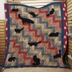Theartsyhomes Black Cat 3D Personalized Customized Quilt Blanket ESR2