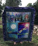 Theartsyhomes Dragonfly And Moon 3D Personalized Customized Quilt Blanket ESR10