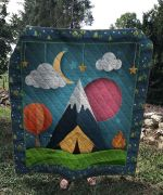 Theartsyhomes Camping Night V3 3D Personalized Customized Quilt Blanket ESR23