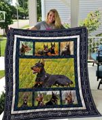 Theartsyhomes Doberman Qui19001 3D Personalized Customized Quilt Blanket ESR26