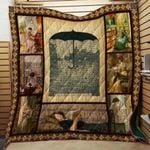 Theartsyhomes Book Umbrella 3D Personalized Customized Quilt Blanket ESR29