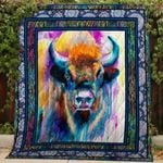 Theartsyhomes Bison V2 3D Personalized Customized Quilt Blanket ESR43