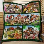 Theartsyhomes Farm #1102-2 3D Personalized Customized Quilt Blanket ESR32
