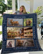 Theartsyhomes Dachshund 3 3D Personalized Customized Quilt Blanket ESR23