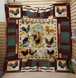 Theartsyhomes Chicken 4 3D Personalized Customized Quilt Blanket ESR11