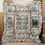 Theartsyhomes Book & Flower 3D Personalized Customized Quilt Blanket ESR22