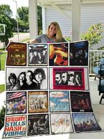 Theartsyhomes crosby stills nash and young 3D Personalized Customized Quilt Blanket ESR1