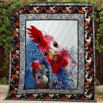 Theartsyhomes Chicken #Bfeb-2 3D Personalized Customized Quilt Blanket ESR19