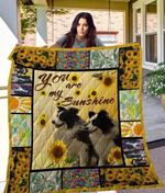 Theartsyhomes Border Collie Qui17008 3D Personalized Customized Quilt Blanket ESR44