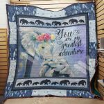 Theartsyhomes Elephant F2507 82o33 3D Personalized Customized Quilt Blanket ESR6