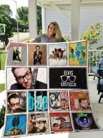 Theartsyhomes Elvis Costello 3D Personalized Customized Quilt Blanket ESR26