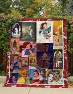 Theartsyhomes BELLE READING BOOK FABRIC 3D Personalized Customized Quilt Blanket ESR47
