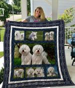 Theartsyhomes Bichon Frisxc3xa9 Qui3002 3D Personalized Customized Quilt Blanket ESR20