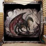 Theartsyhomes Black Dragon 1511-03 3D Personalized Customized Quilt Blanket ESR3