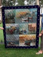 Theartsyhomes Boat 3D Personalized Customized Quilt Blanket ESR11