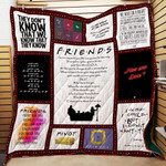 Theartsyhomes F.R.I.E.N.D.S Song 3D Personalized Customized Quilt Blanket ESR46