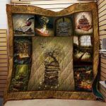 Theartsyhomes Book D0603 84o-32 3D Personalized Customized Quilt Blanket ESR46