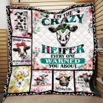 Theartsyhomes Cow Printing Tdq-Qhn0026 3D Personalized Customized Quilt Blanket ESR34