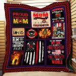 Theartsyhomes Firefighter Mom 3D Personalized Customized Quilt Blanket ESR39