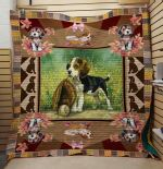 Theartsyhomes Beagle And Baseball 3D Personalized Customized Quilt Blanket ESR37
