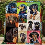 Theartsyhomes Dachshund R192 3D Personalized Customized Quilt Blanket ESR27