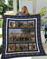 Theartsyhomes Elephant 3D Personalized Customized Quilt Blanket ESR30