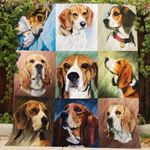 Theartsyhomes Beagle R151 3D Personalized Customized Quilt Blanket ESR11