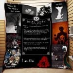 Theartsyhomes Death Note P170 3D Personalized Customized Quilt Blanket ESR43