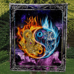 Theartsyhomes Dragon& Tiger R149 3D Personalized Customized Quilt Blanket ESR44