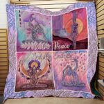 Theartsyhomes calm peace exhale inhale yoga 3D Personalized Customized Quilt Blanket ESR38
