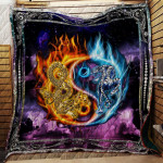 Theartsyhomes Dragon& Tiger R149 3D Personalized Customized Quilt Blanket ESR46