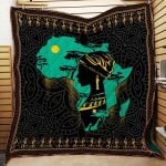 Theartsyhomes Black Girl Map R167 3D Personalized Customized Quilt Blanket ESR11
